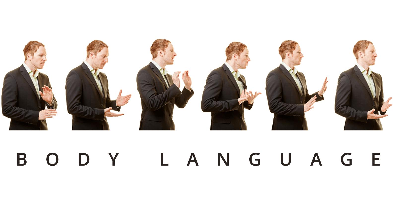 زبان بدن در مقابل دوربین